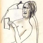 Michael-reading_pencil